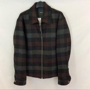 New THEORY Wyatt Regular Fit Mosaic Plaid Jacket